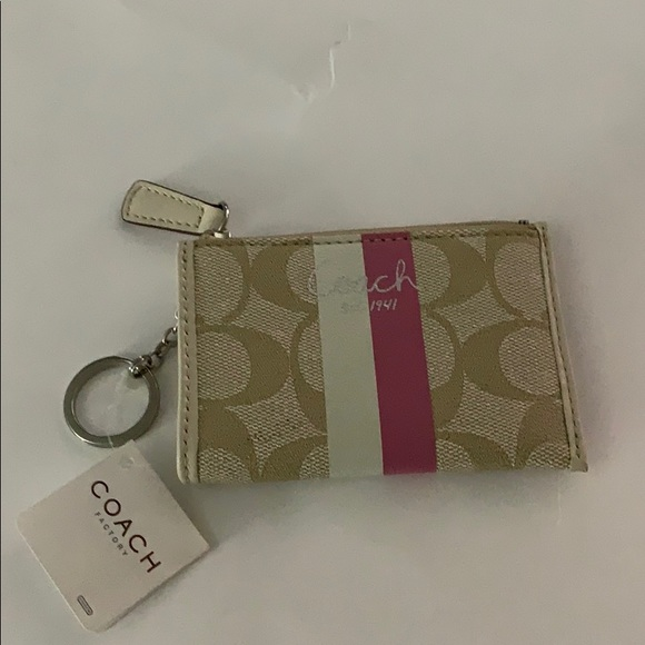 NEW never used Coach keychain